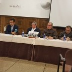 El secretario de redacción, Francisco Leira, impartió una conferencia sobre los sucesos de Nebra (Porto do Son, A Coruña) en 1916.