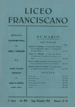 Revista Liceo Franciscano - Números 53-54