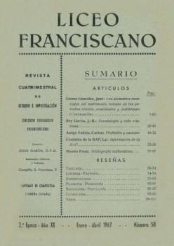 Revista Liceo Franciscano - Números 58